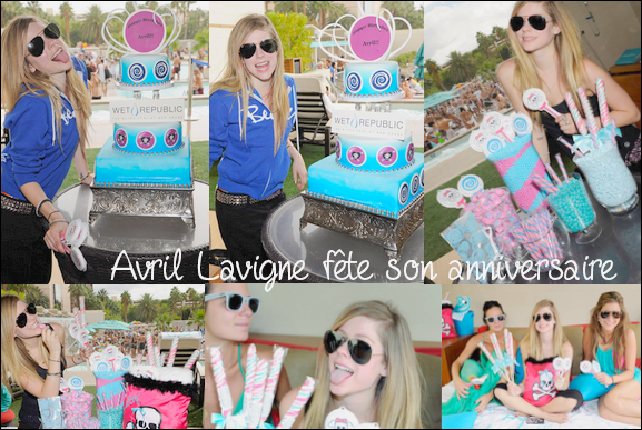 Avril Lavigne à organisé une fête pour ses 26 ans ce samedi 2 octobre 2010 au MGM Grand Hotel de Las Vegas. Cet endroit est réputé pour ses soirées au bord d'une immense piscine. Voici les magnifique photos de cette soirée *-* . Enjoy .