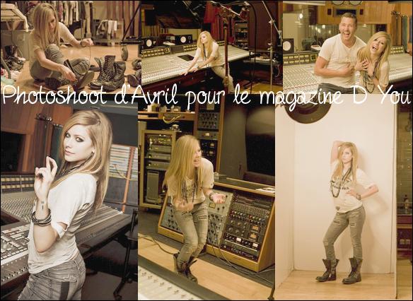 Le site officiel du magazine D You vient d'ajouter cinq photoshoots supplémentaires de la séance avec Avril.