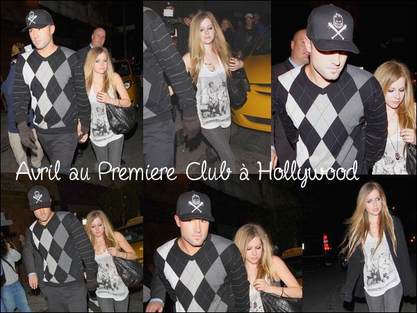 Avril et Brody ont été aperçus ensemble hier soir au Premiere Club à Hollywood.