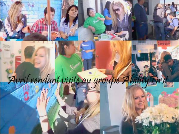 Une nouvelle vidéo a été ajoutée sur le site de la Fondation Avril Lavigne. Dans cette dernière on y voit Avril rendant visite au groupe AbilityFirst implanté dans plusieurs villes des Etats-Unis dont Los Angeles où la vidéo a été tournée.