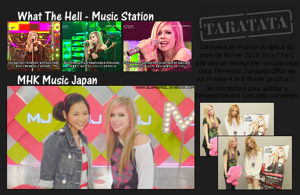 Avril en France ! + Interview