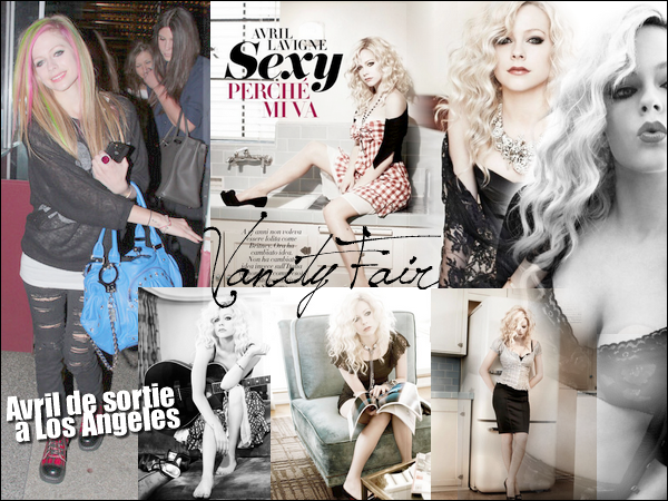 candids (Avril à Los Angeles avec des amies) + photoshoot (pour Vanity Fair) + news