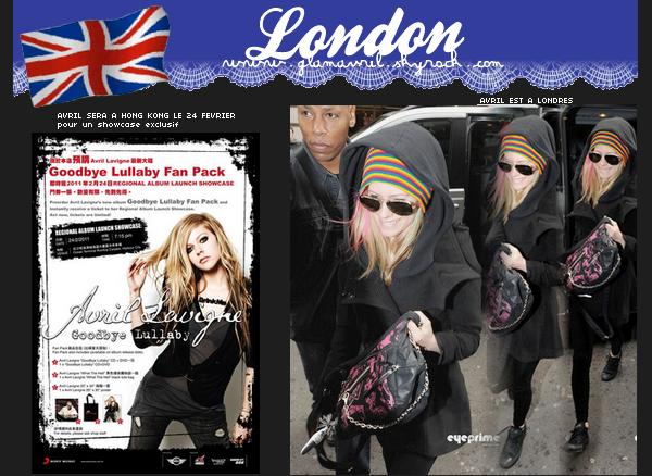 Avril est bien arrivé à Londres en compagnie de Brody .