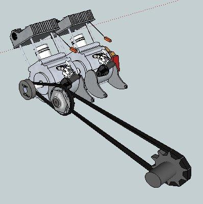 schéma du moteur fini, samedi 15 Janvier 2011 on commence à travailler sur les vrais moteurs