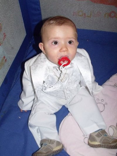 mon fils lorenzo a sa premiere dent 10 mois et demi