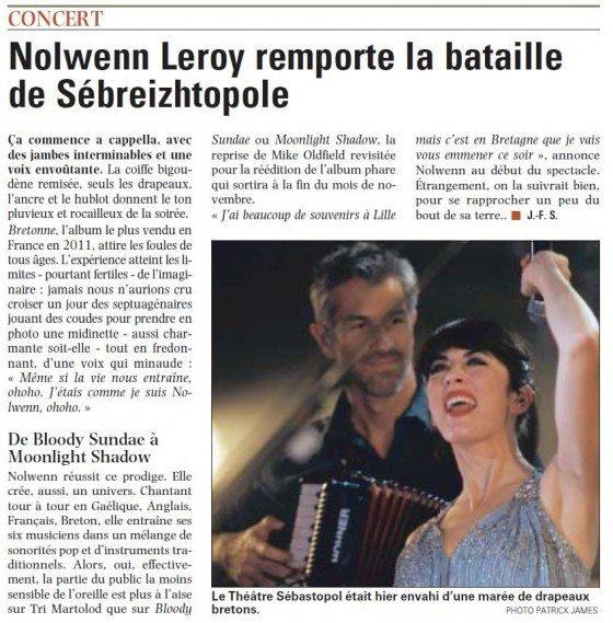 NOLWENN LEROY EN CONCERT A LILLE LE 27 OCTOBRE 2011