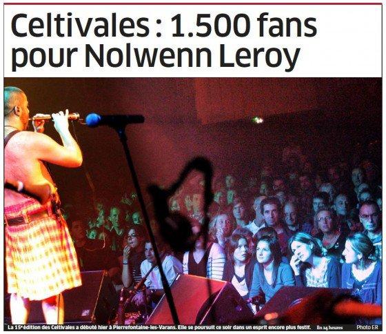 NOLWENN LEROY EN CONCERT A PIERREFONTAINE , LE 28 OCTOBRE 2011