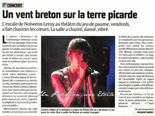 NOLWENN LEROY EN CONCERT A ALBERT , LE 2 DÉCEMBRE 2011