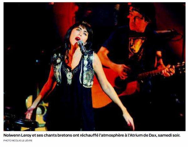 CONCERTS DE NOLWENN LEROY : MOULIN ET DAX EN FÉVRIER 2012 !!!!!