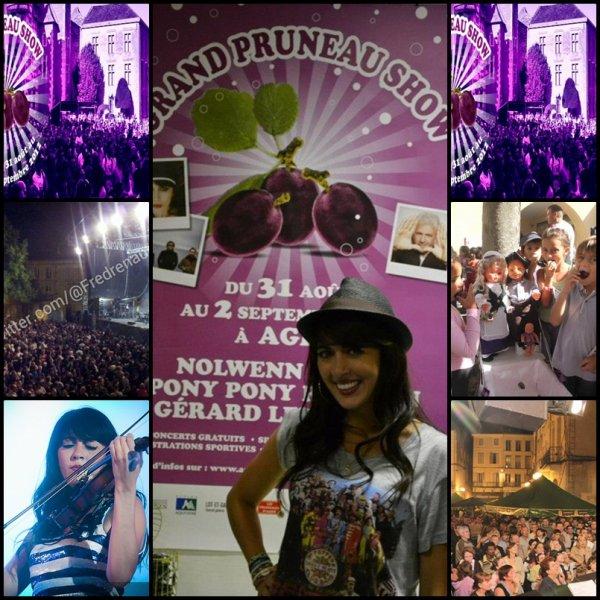 NOLWENN EN CONCERT A AGEN POUR LE GRAND PRUNEAU SHOW , LE 31 AOUT 2012