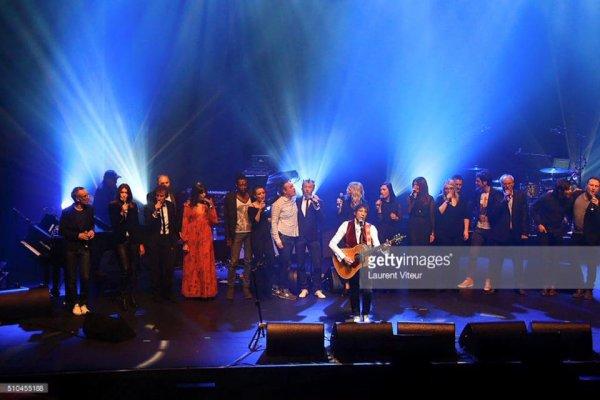 2 générations chantent pour la 3ème » organisé par Pierre Souchon le 15 février 2016 à l'Olympia pour la Recherche sur Alzheimer ( 2 )