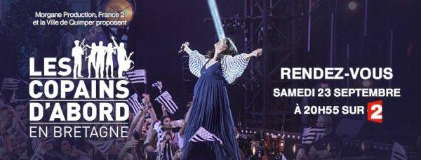 """Nolwenn Leroy dans l'émission """" les copains d'abord """" sur France 2 spécial Bretagne a Quimper le 23 septembre 2017"""