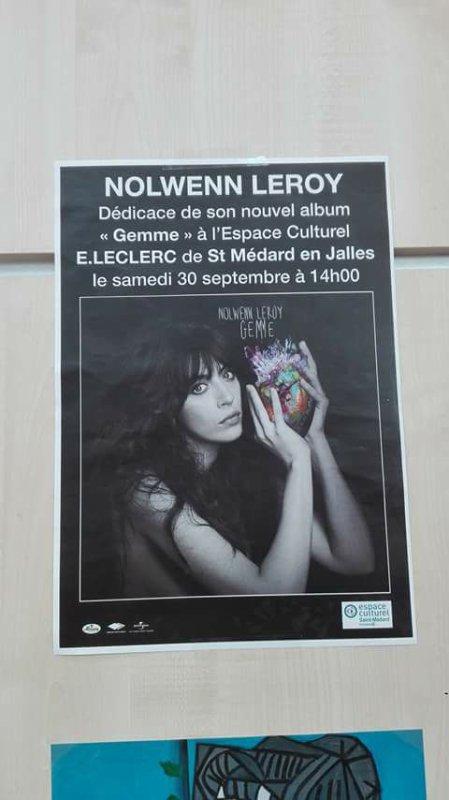 Nolwenn Leroy pour une séance de dédicace au magasin leclerc a Saint medard en jalles prés de bordeaux le 30 septembre 2017