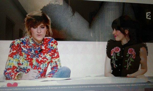 """Nolwenn dans l'émission """"  je t'aime etc """" sur France 2 le 3 octobre 2017"""