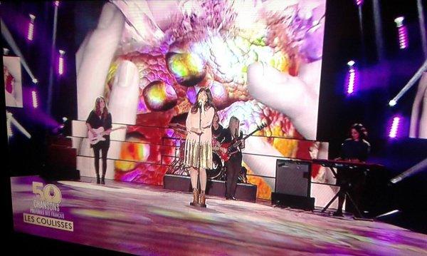 Nolwenn Leroy dans l'emission les 50 chansons préférées des francais sur M6 le 19 octobre 2017