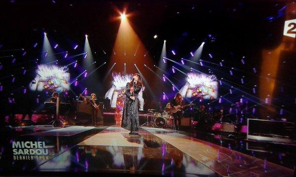 """Nolwenn Leroy dans l'émission """" Michel Sardou le dernier show """" sur France 2 le 21 octobre 2017"""