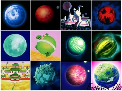 Les planetes dbz