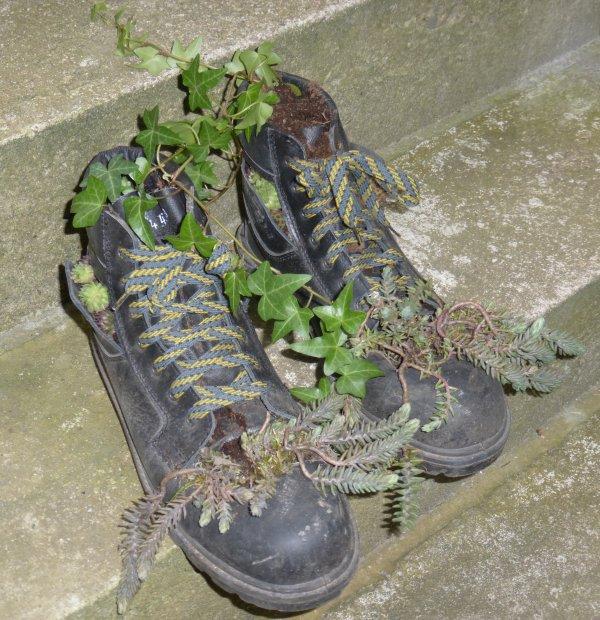 Recyclage de mes chaussures de travail.