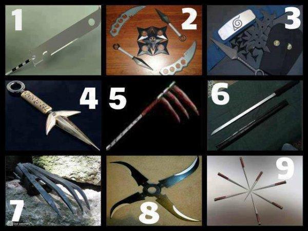 Zombie apocalypse ! Choisissez vos armes !  moi je choisie la 1 et la 8
