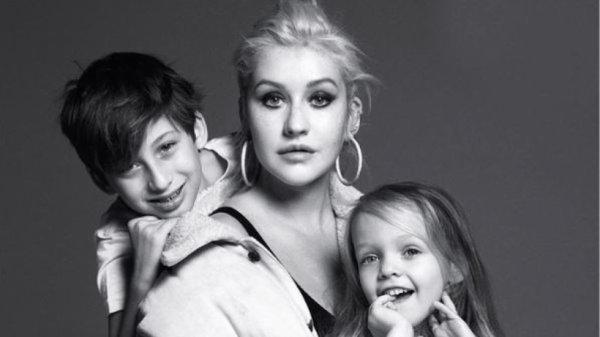 Christina et ses enfants <3