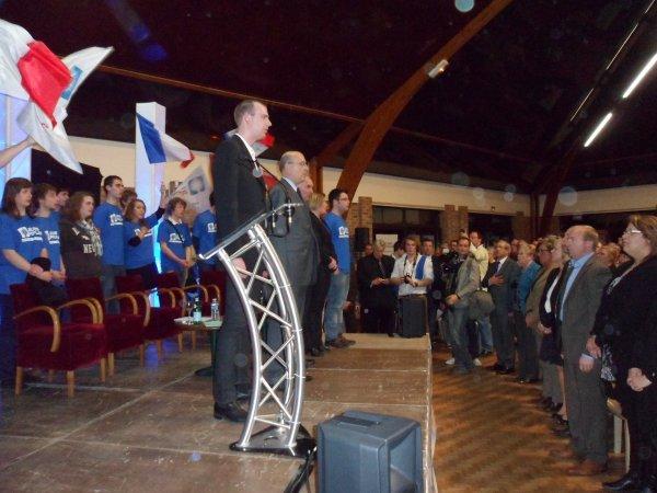 [PRESIDENTIELLES 2012]  Retour sur  le meeting d'Alain Juppé, soutien de Nicolas Sarkozy à Hinges (62),