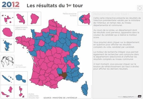 [PRESIDENTIELLES 2012] RESULTATS 1ER TOUR - Dans les départements...