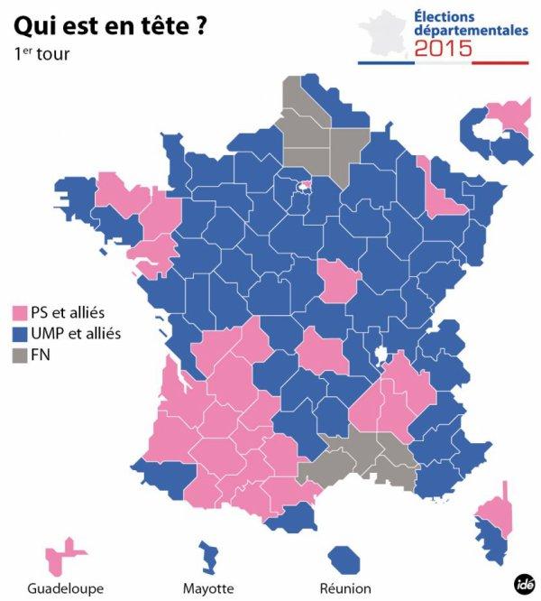 TENDANCE / DEPARTEMENTALES 1er tour : Victoire du FN et de l'absention , A quand notre réaction?