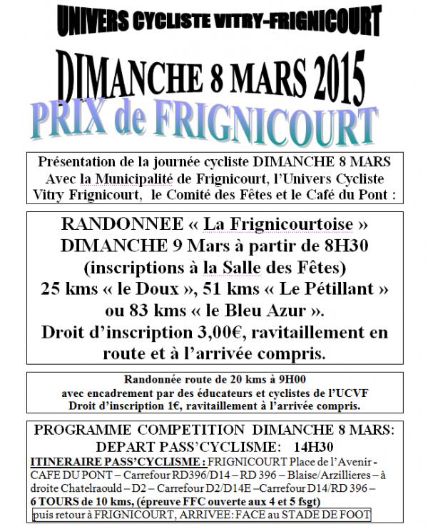dimanche 08.03.2015 reprise difficile a Frignicourt..