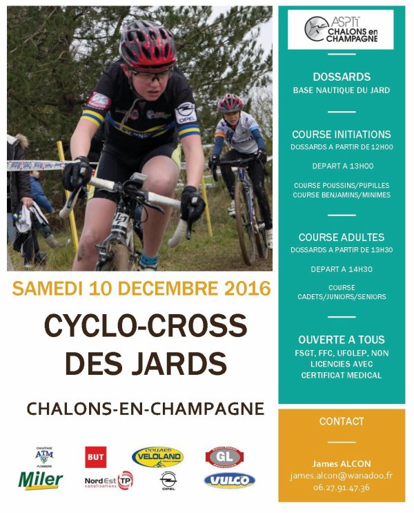 CYCLO CROSS DES JARDS A CHALONS EN CHAMPAGNE