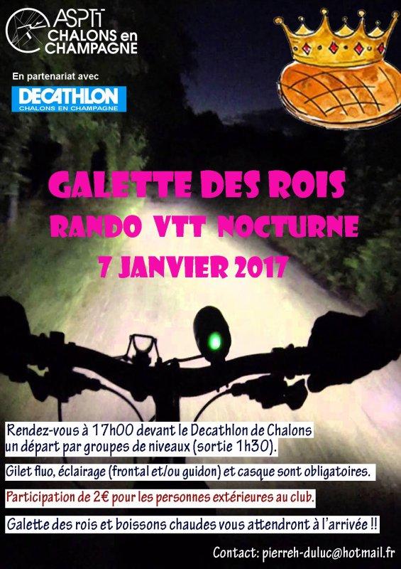 randonnée Nocturne Vtt samedi 07.01.2017