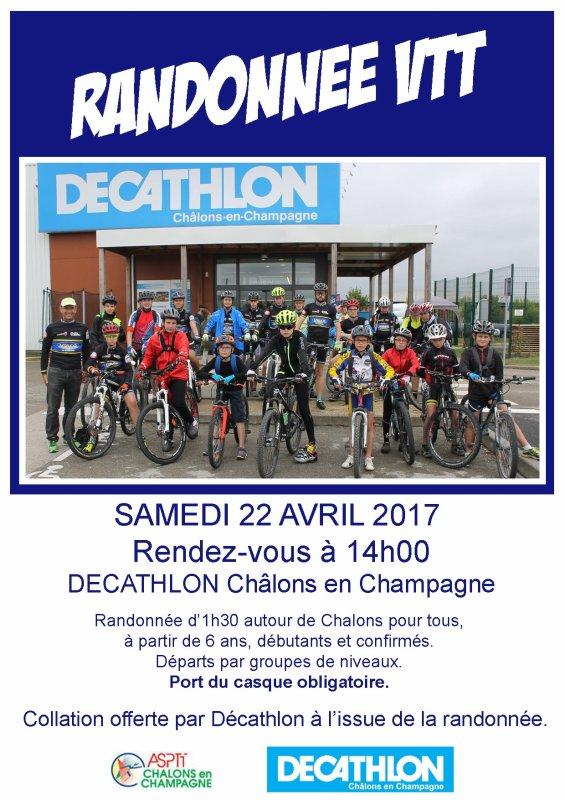 prochaine Rando Vtt sur Chalons en partenariat DECATHLON