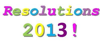 Noël 2012, Bonne année 2013, Mes bonnes résolutions 2013 & projet sons 2013