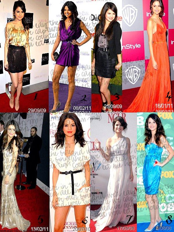 Rubrique :   Top 8 des apparitions de Selena selon les années 2008/2009/2010/2011 Laquelle préfères-tu ? Laquelle aimes-tu le moins ?