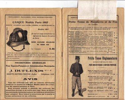 ancien catalogue fournitures pompiers