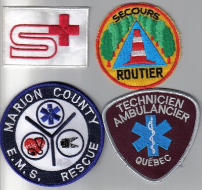 ecussons secouriste ambulance et helicoptere