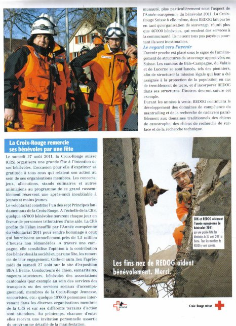 Redog tire du journal  InfoChiens 03.2011