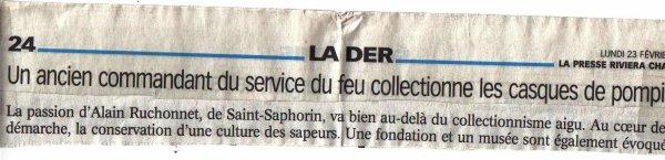 presentation  par un article parus en2004 presse rivera chablais