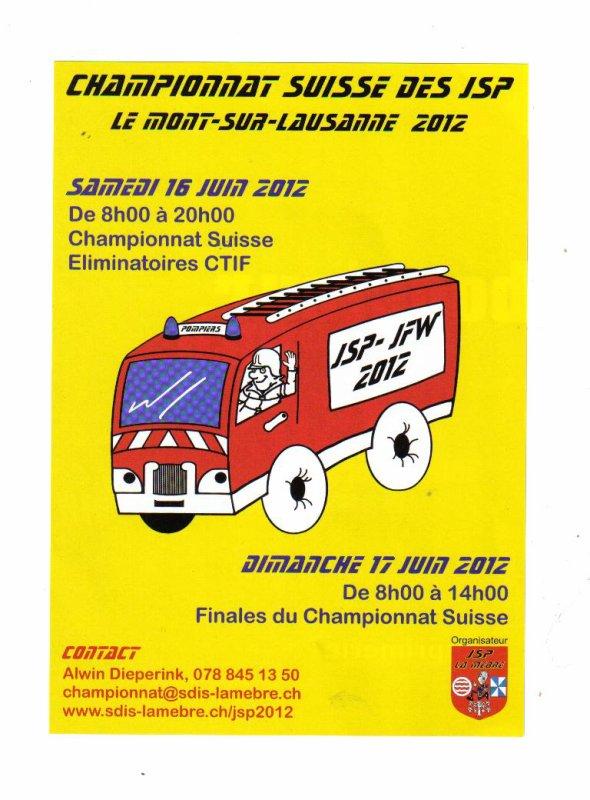 championnat suisse des JSP   Eliminatoire  CTIF