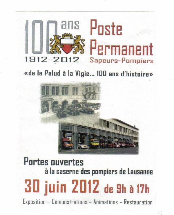 100 ans poste permanent    Lausanne