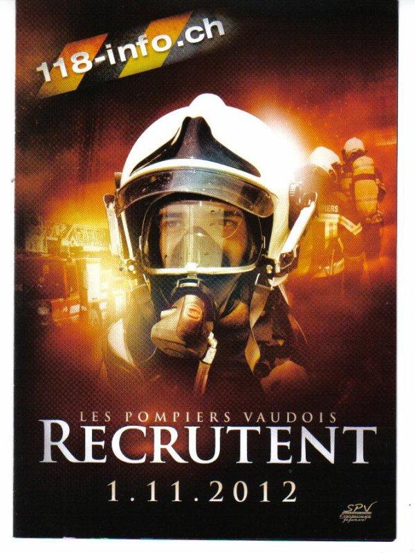 recrutement pour 2013 canton de Vaud
