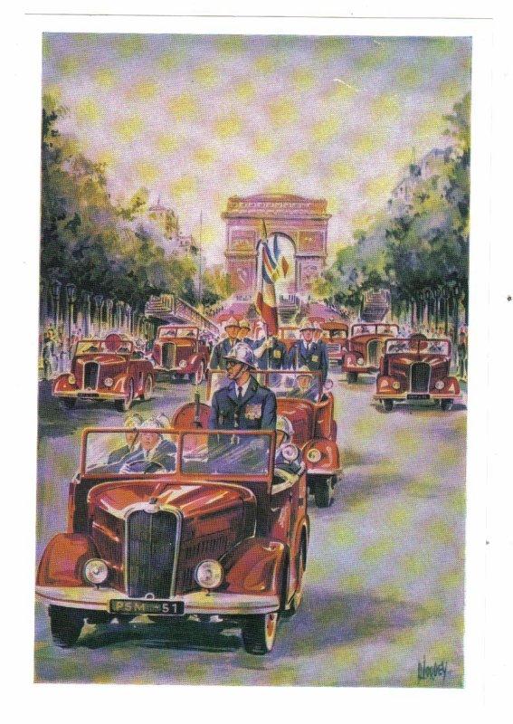 ecusson carte postale Merci R. TESSON