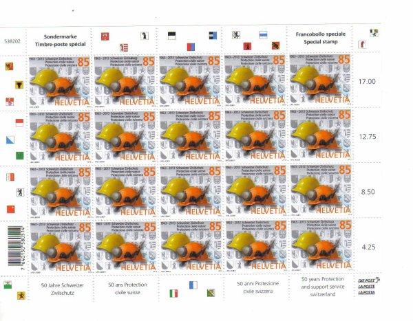 nouveau timbres suisse protection civil