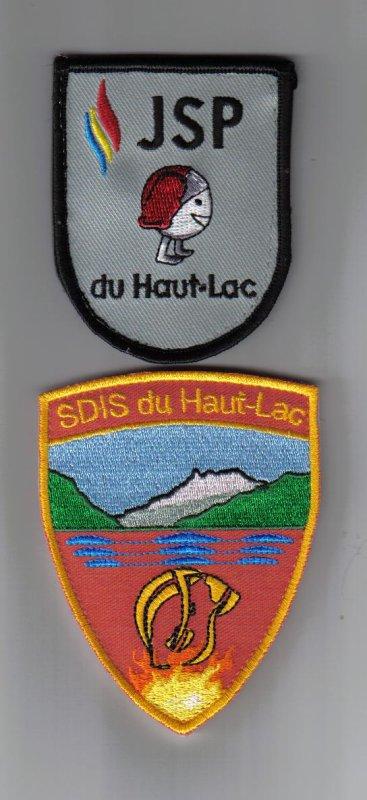 ecusson JSP  et SDIS  Haut-Lac