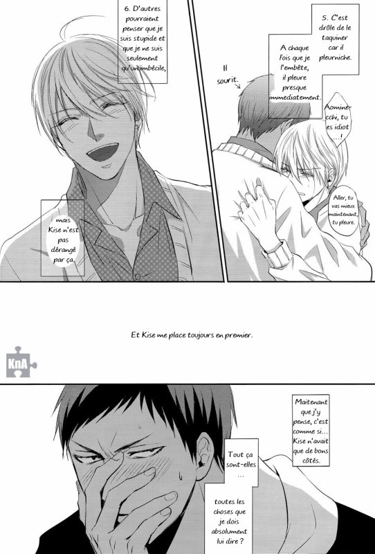 Nothing on you, doujinshi AoKise (KnB) : Partie 2