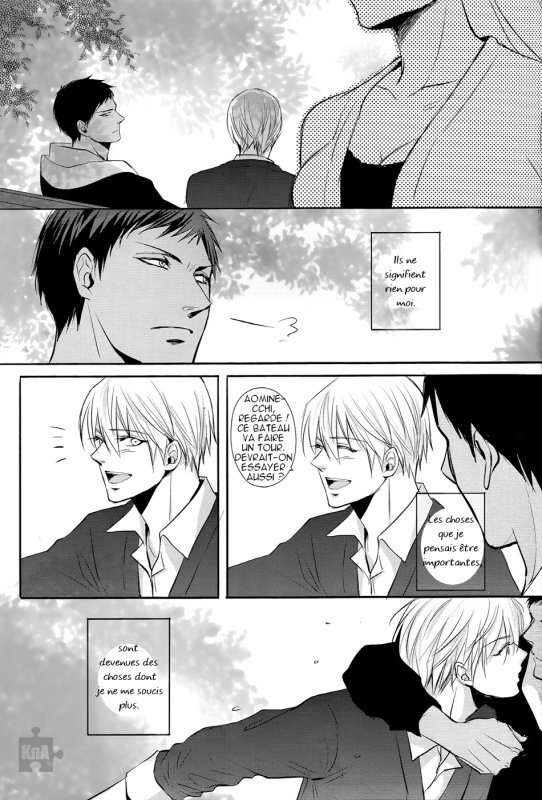 Nothing on you, doujinshi AoKise (KnB) : Partie 3