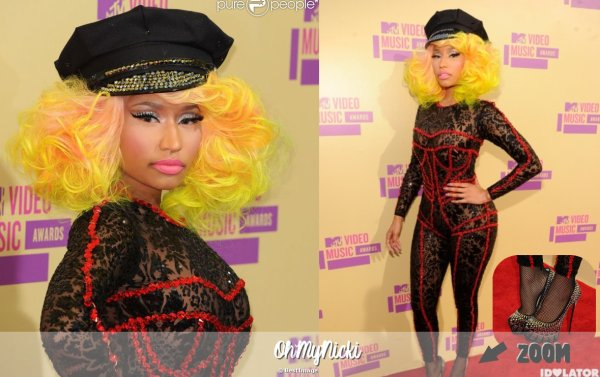 MTV VIDEO MUSIC AWARDS: 6 sept 2012 et Pink Friday Tour: 14 août + Parfum Pink Friday   OhMyNicki