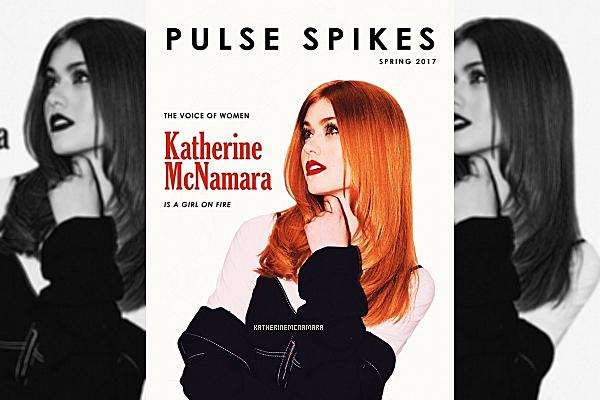PHOTOSHOOT ----------------  AVRIL 2017 ----------------   Notre jolie petite Katherine nous offre un sublime photoshoot. Elle fait la couverture du magazine Pulse Spikes pour le mois d'avril 2017. J'aime énormément ce shoot. Surtout les 2 dernières photos du montage, avec le haut noir en dentelle. J'ADORE juste. J'accorde un gros TOP à ce photoshoot. Et vous, qu'en pensez-vous?