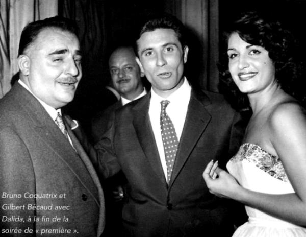 Dalida et Gilbert Bécaud à l'Olympia en 1957