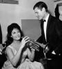 Dalida et le trompettiste et chanteur de Jazz Chet Baker au Teatro Brancaccio de Rome - 13 Avril 1962