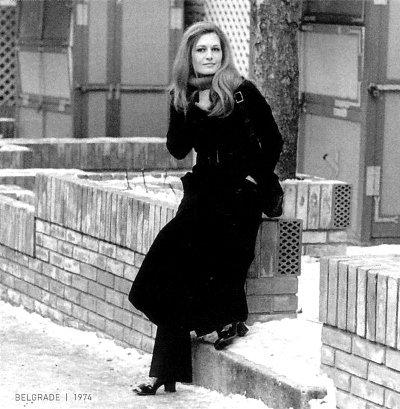 Dalida à Belgrade en Yougoslavie - 1971